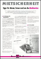 inhalt der infoschrift mietsicherheit kaution - Freigabeerklarung Mietkaution Muster